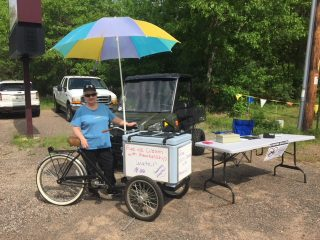 Our membership drive from summer of 2017. Linda is giving away free ice cream and water on flea market Tuesday.
